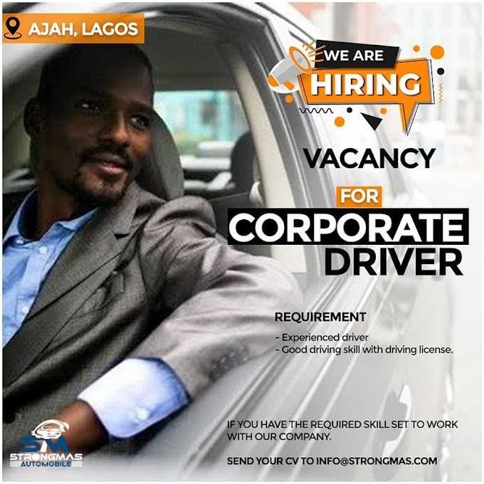 StrongMas Automobile hiring for the post of a driver