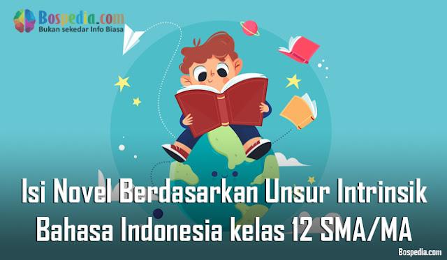 Materi Isi Novel Berdasarkan Unsur Intrinsik Mapel Bahasa Indonesia kelas 12 SMA/MA