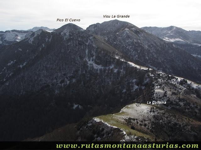 Vista del Pico Cuevo y Visu La Grande