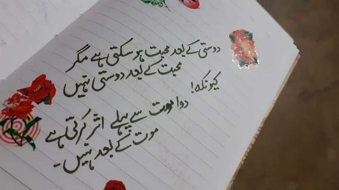 love poetry in urdu 2 lines