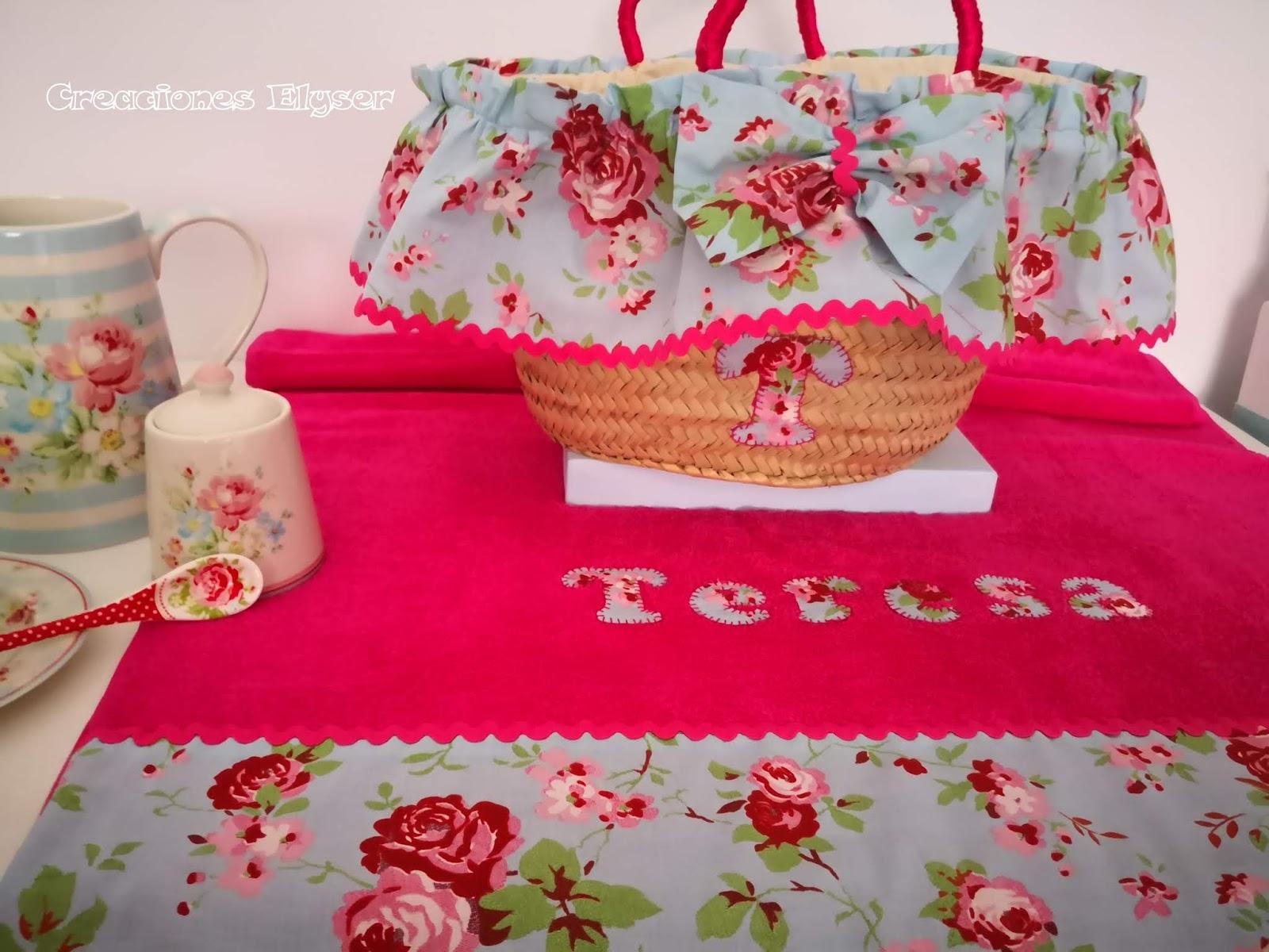 sobresalir violento girasol  Creaciones Elyser: Cestas y toallas personalizadas para niña