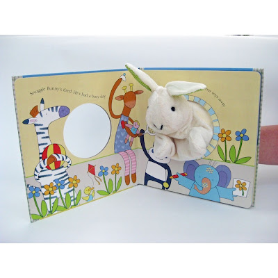 Snuggle Bunny by Emma Goldhawk, book with a hand puppet