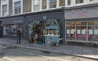 Perspective 3d façade pâtisserie Londres