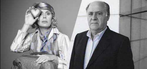 Agatha Ruiz de la Prada y Amancio Ortega