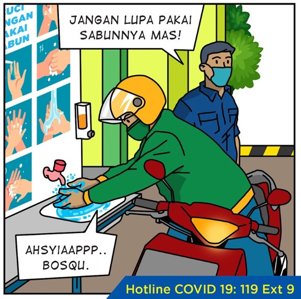 Komik Cegah Coronavirus Bagian 4