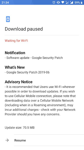 Nokia 3 receiving June 2019 Android Security update