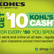 Find coupons at Kohl's Today's Deals