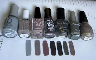 Notd Orly Mirror Mirror Grey Nail Polish Comparisons