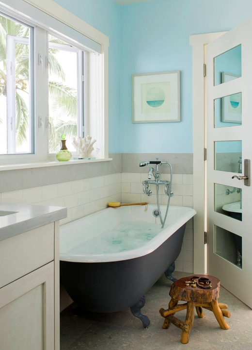 Blue Walls in Bathroom Ideas