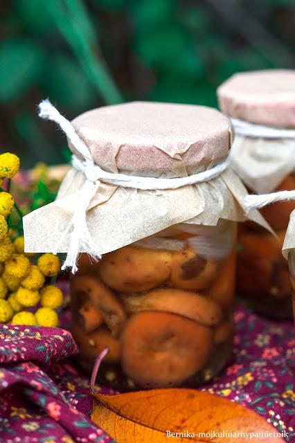 rydze, grzyby, jesien, przetowry, marynowanie, marynowane, bernika, na zime, kulinarny pamietnik