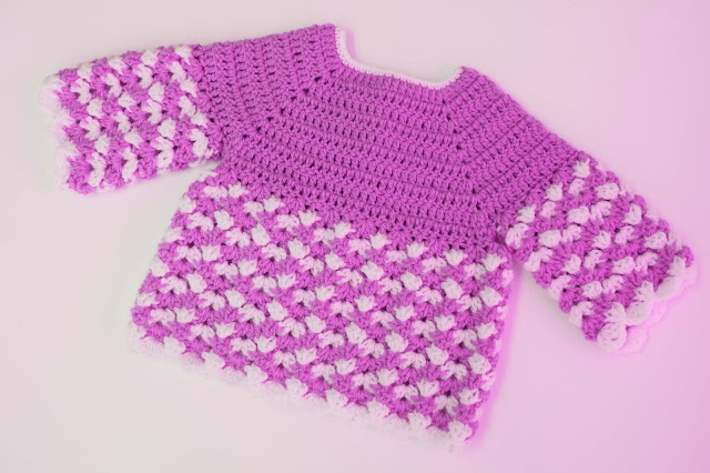 4 - Crochet Imagen Saco,jersey y chambrita a crochet y ganchillo por Majovel Crochet