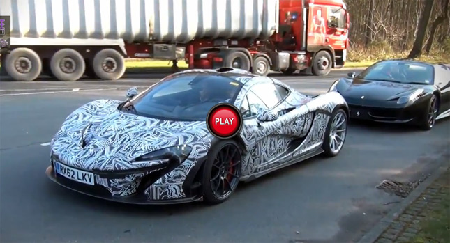 Information And Review Car: Watch A Ferrari 458 Spider Stalk A McLaren P1  Hypercar In Traffic