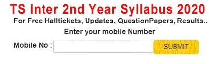 TS Inter 2nd Year Syllabus 2020