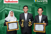 Bank NTB Syariah kembali meraih penghargaan Top BUMD Awards 2020