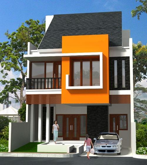 43 Contoh Cat Rumah Minimalis Warna Orange Yang Nampak ...