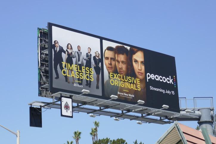 Peacock Timeless classics billboard