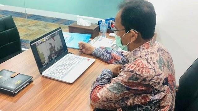 Asisten II Setda Aceh Ikuti Acara Teken Kontrak Tender Kementerian PUPR Secara Virtual