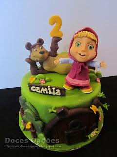 A Masha e o Urso no 2º aniversário da Camila