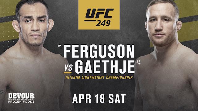 Tony Ferguson Justin Gaethje UFC 249 Poster