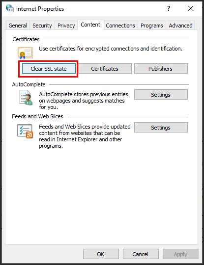إضافة شهادة الموقع الغير معتمدة Non-SSL