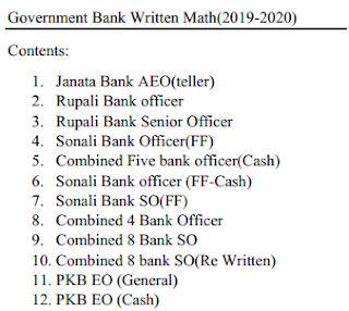 Govt Bank Written (2019-2020) Math Solutions (converted)