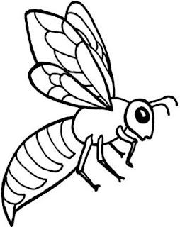 Dibujo de abeja para colorear para niños