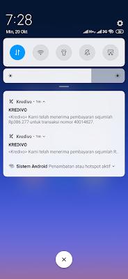 Bukti Pembayaran Tagihan dari Aplikasi Kredivo Android