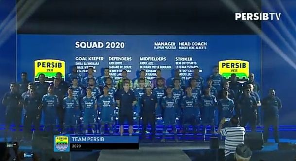 Daftar Nama dan Nomor Punggung Pemain Persib Bandung di Liga 1 2020