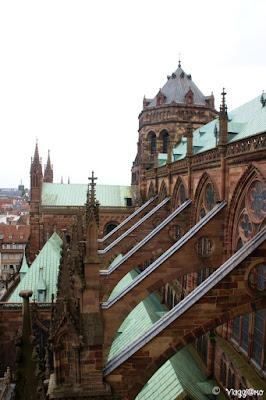 Strasburgo vista dalla scalinata della Cattedrale
