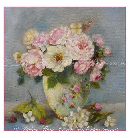 a winter bouquet camelia blanc seringat et roses anciennes. Black Bedroom Furniture Sets. Home Design Ideas
