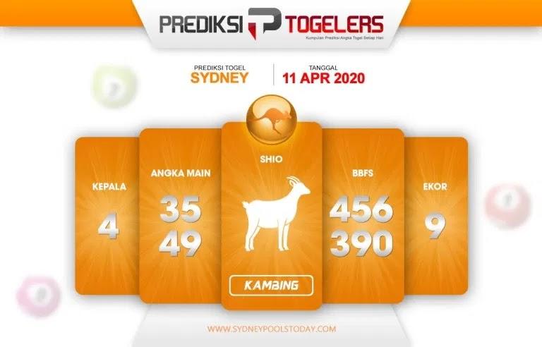 Prediksi Togel Sidney Sabtu 11 April 2020 - Prediksi Togellers