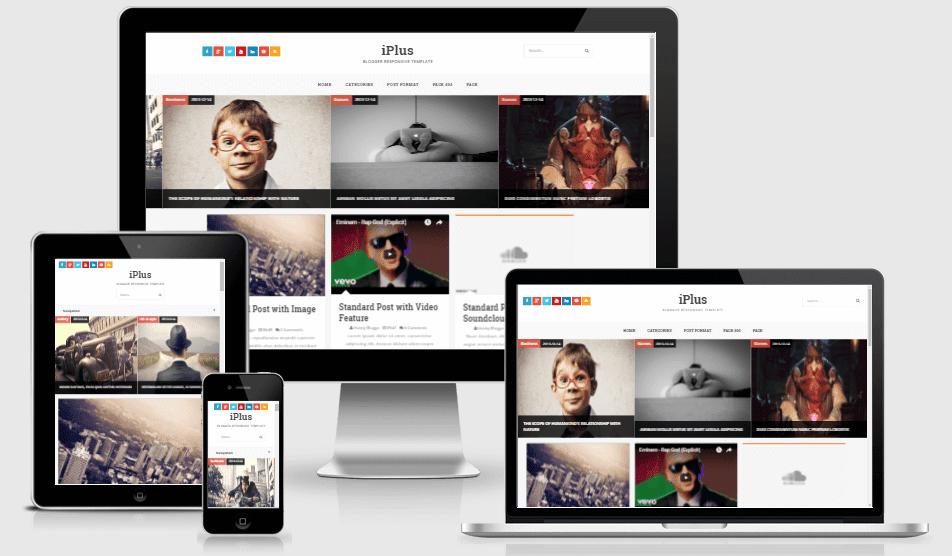 iPlus Responsive Creative Blogger Theme