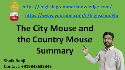 The City Mouse and  the Country Mouse Summary