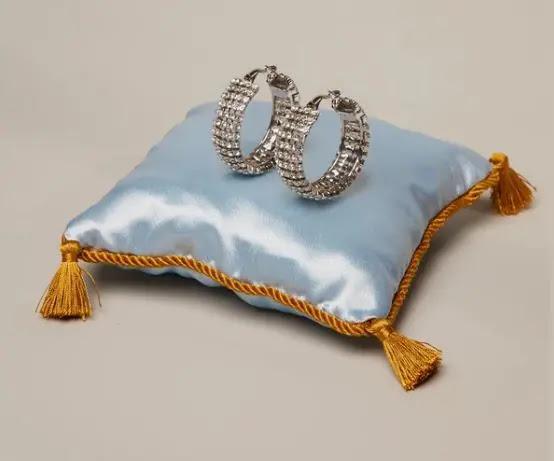 7-  HVN Clear Jupiter Crystal Earrings