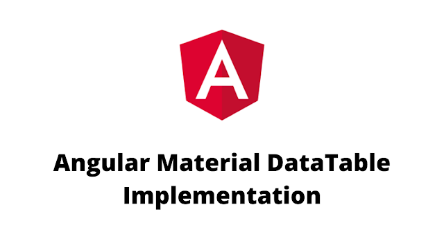 Angular Material DataTable Implementation