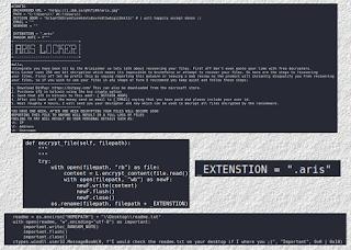 ArisLocker Ransomware code шифровальщик, шифратор