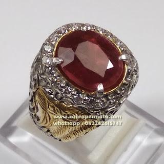 Cincin Batu Permata Ruby ZP1097