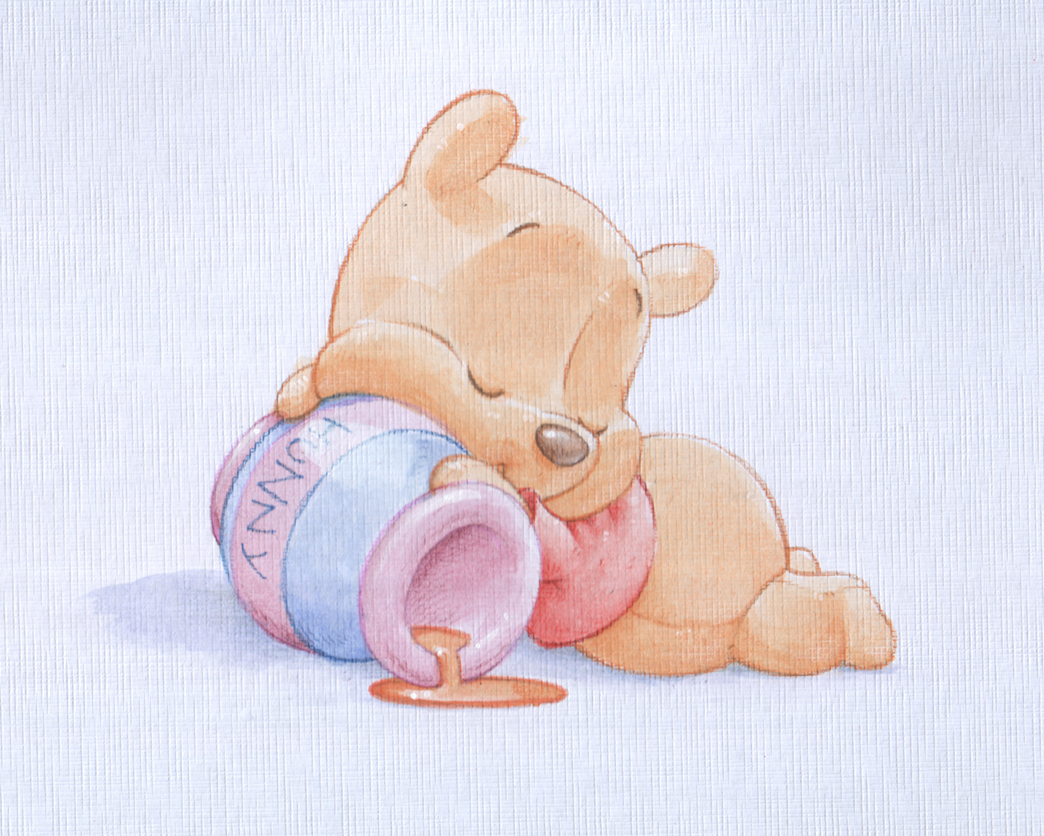 Shane Made Art: Baby Pooh watercolour
