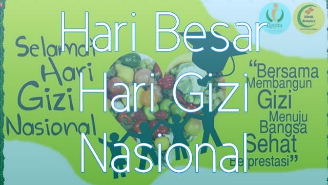 Sejarah Hari Gizi Nasional 25 Januari