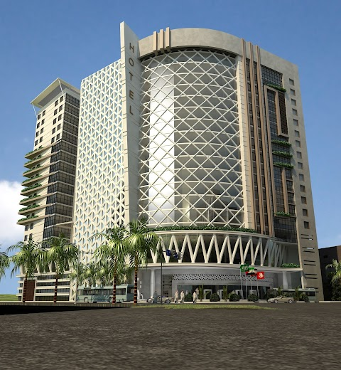تصميم مشروع تجاري اداري فندقي ومسجد  المالك عماد عبد الرحمن حجازي