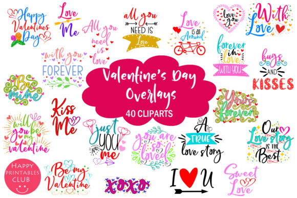 Cute Valentine's Day Overlays Graphics