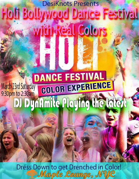 Holi Bollywood Dance Party 2016