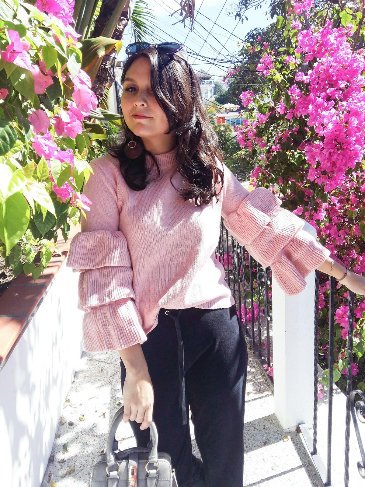 flouncy pullover rosegal blogger