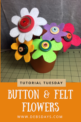 Homemade Felt and Button Flowers Crafting Project