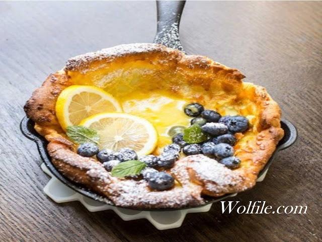Dutch Babies With Lemon And Blueberries Recipe #Cake #Pancake
