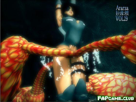 Ararza vol.29 – Young female fighterTorture movie (美少女戦士拷問 VOL29 ルージュ触手編)