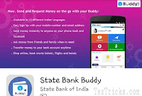 State Bank Buddy Refer & Earn Offer :-   State Bank Buddy App Offer - Hello Readers As we know that State Bank Buddy is App for all Online Uses like Movie Ticket vooking,Recharge  (Mobile/DTH) And Railway ticket and etc and this app is managed by State Bank Of India. And now State Bank Buddy app is came with Refer & Earn Offer through which you can earn Rs.25 per referral fròm Buddy App. So belo are the some Steps to Refer your friends and earn Rs.25 per referral.    How To Get Rs.25 Per Referral from State Bank Buddy App. ?   ♢ Firstly Install State Bank Buddy App from Here.  ♢ Click on SignUp as New User & Proceed.  ♢ Enter Your mobile number, Name and Email id & Verify Your number by OTP.  ♢Register your account using Referral.              code:- PARC7763935700  ♢ Now You have to Complete 2 transactions, So  Initiate a 2 transaction of Rs 1 to any other State Bank buddy number or You can send to our number- 7763935700   How To Refer & Earn :   1) Your Referral code will be : PARCxxxxxxxxxx Where xxxxxxxxxx is your 10 digit registered mobile no. 2) Now Share Your Referral Code with your Friends To Earn Rs.25 per referral.  3) When Your Friend Sign up using your Referral code and complete his 2 Transaction. You can even send ₹1 twice to same number to get the referral 4) You will get the Rs 25 in SBI Buddy App 5) The Referral reward money gets credited by next Tuesday. So by following Above steps you can earn Rs.25 in your State Bank Buddy Wallet. So start referring your friends and earn Rs.25 per referral.