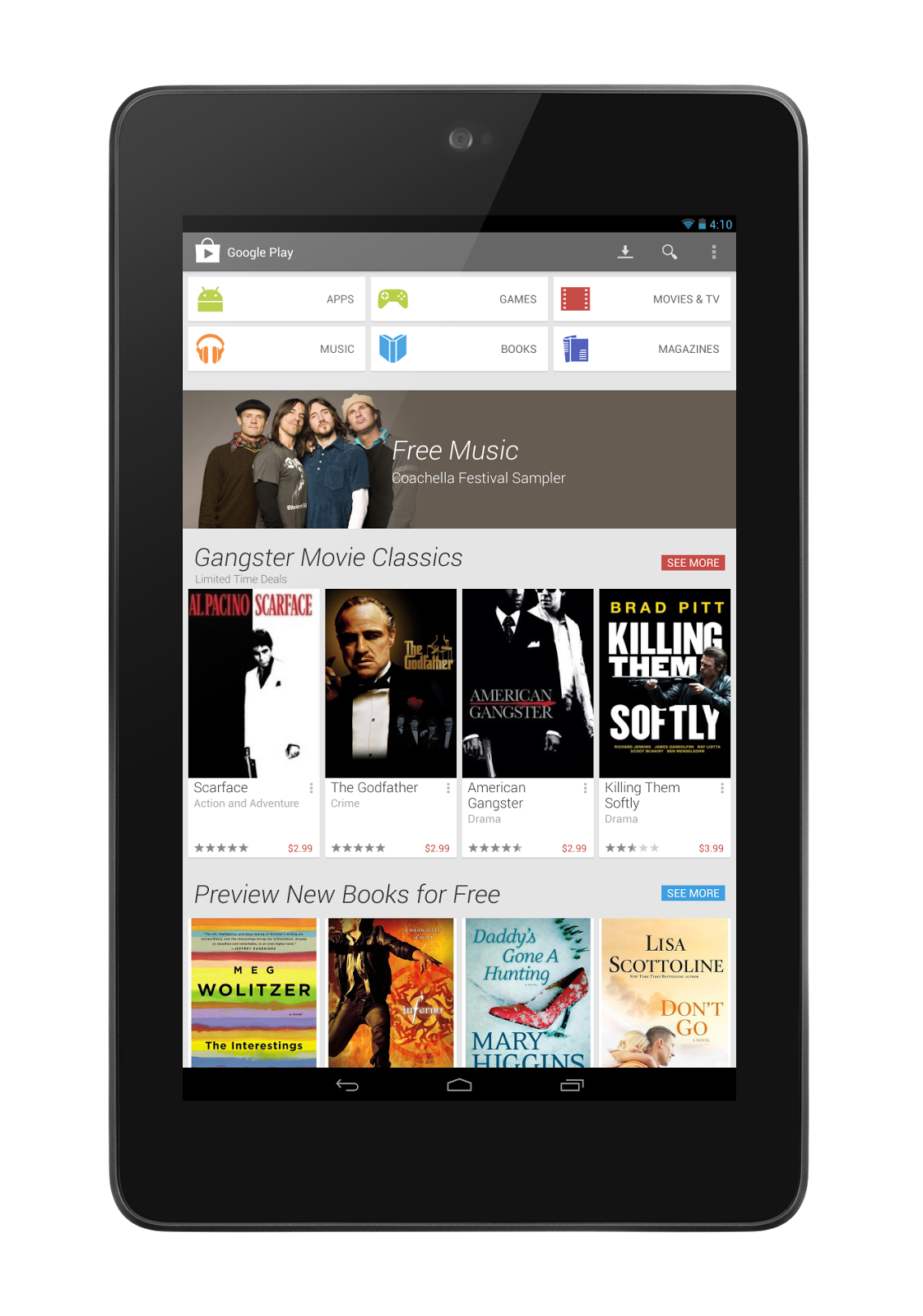 Play+Home+ +Tablet Google Play Store Redesign Is Now Official