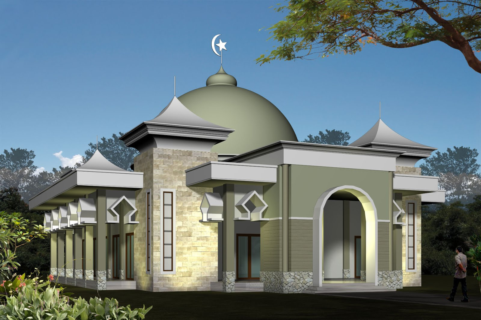 30 Model Masjid Minimalis Dengan Model Masjid Modern Dari