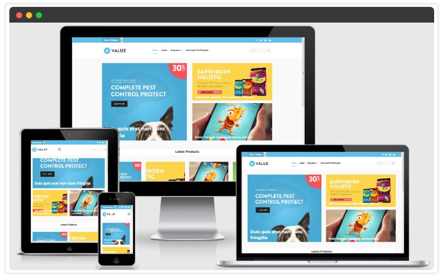 Value eCommerce Blogger Template